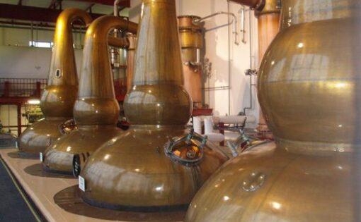 在格蘭諾其釀酒廠的威士忌罐式蒸餾器(引用自原文)