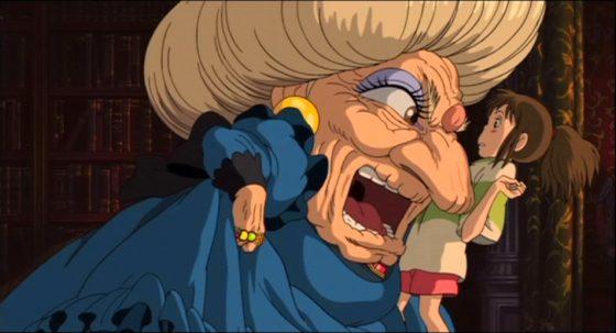湯婆婆非比尋常大的臉和腦袋。圖/IMDb