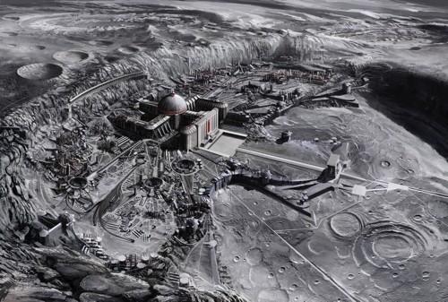 《钢铁苍穹》中的纳粹月球基地