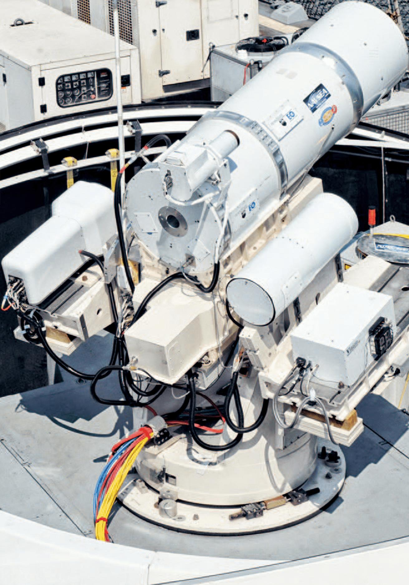 今年美國海軍龐賽號即將安裝類似這套測試產品的雷射武器系統。