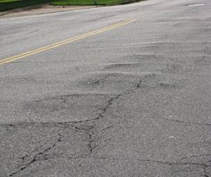 柏油路上的皺褶(corrugaiton)。來源:FAA