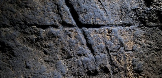Engravings found in the Gorham's Cave in Gibraltar