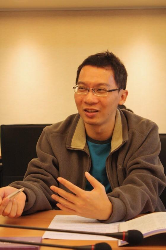 計畫主持人、海洋產業處專案經理湛翔智博士。