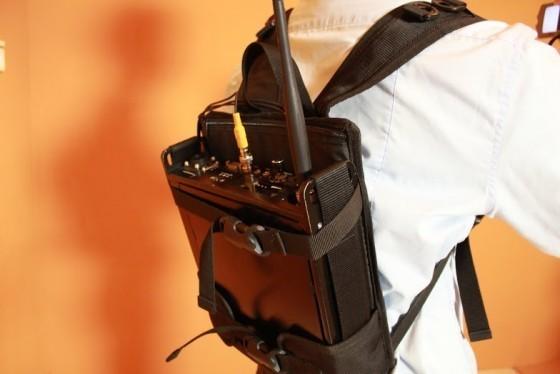 BestLINK系統具有高機動性,可透過背包攜帶,將拍攝影像立即以無線方式回傳。