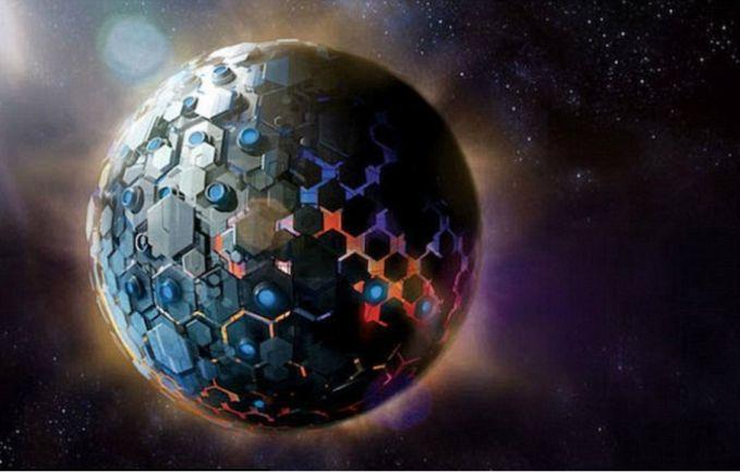 有天文學家認為KIC 8462852的奇異亮度曲線可能是部分的戴森球所造成的。(圖片來源:Plusk)
