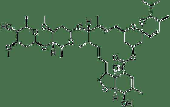 看起來就好威的阿維菌素結構(cc by WIKI)