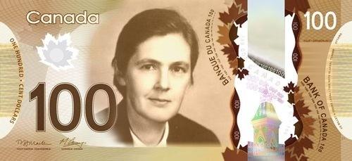 加拿大將凱爾西的肖像放在鈔票上