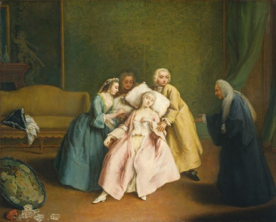 Pietro Longhi, The Faint, Italian, 1702 - 1785, c. 1744, oil on canvas, Samuel H. Kress Collection