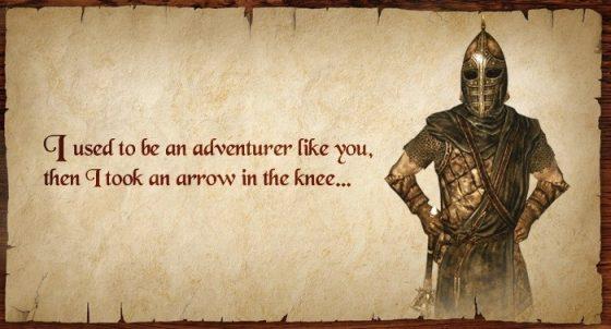 出自由Bethesda開發的遊戲《上古卷軸5:天際》裡面衛兵的固定臺詞。