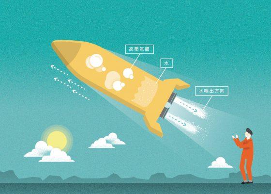 壓力容器的原理跟水火箭類似,高壓的笑氣儲存於壓力容器中,所以當閥門打開便會從出口流出液態的笑氣到燃燒艙(火箭引擎)中了。圖/《一起離開地球上太空!:ARRC自製火箭》提供