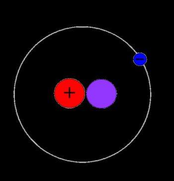 氘的示意圖。圖 / By ZYjacklin, CC0, wikimedia commons
