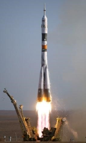 俄羅斯聯盟號火箭(Soyuz rockets)。圖/By NASA, Public Domain, wikimedia commons