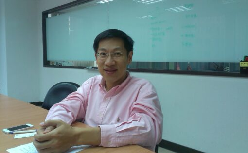 專訪意藍科技董事長楊立偉(圖片來源:作者自攝)