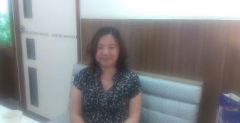 專訪典通公司總經理楊雅惠(圖片來源:作者自攝)