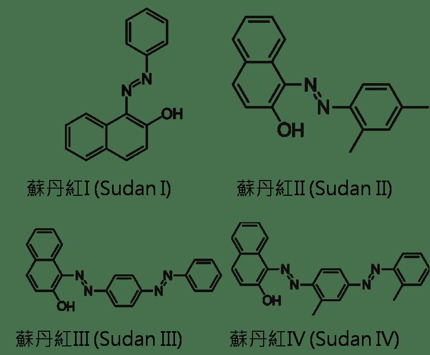 常見四種蘇丹紅分子的結構